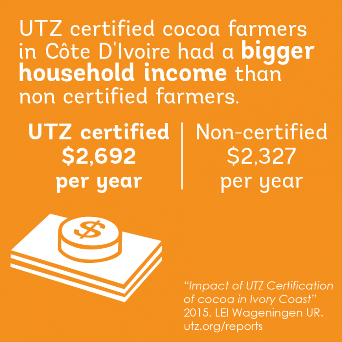 Impact on better income in the cocoa sector in cote d'ivoire