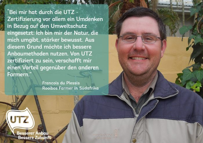 Quote UTZ rooibos farmer Francois du Plessis South Africa